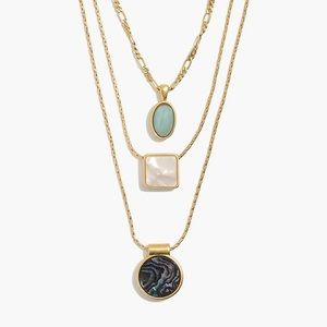 Madewell Geo Stone Necklace Ser